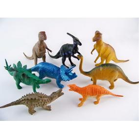 8 Dinoussauro Borracha Coleçao Brinquedo Jurassic Park 15 Cm