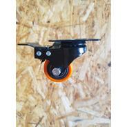 4 Ruedas Giratorias (dos C/freno) Poliuretano Diametro 40mm