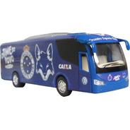 Miniatura Ônibus Cruzeiro Time De Futebol Em Metal 18cm