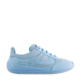 Tenis De Dama Casual Panam Clasico Azul Textil Xt293