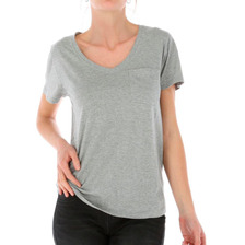 Polera Mc Mujer V-neck Pocket Tee Gris Cat