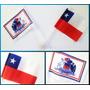 Juego De 2 Banderas Chilenas Con Chupón Para Auto