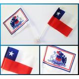 Juego De 2 Banderas Chilenas Con Chupón Para Auto - Bigbull