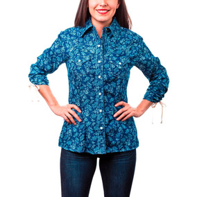 Blusa Dama Majo West Azul Mezclilla Bi-439