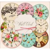 Kit De Imágenes Digitales Vintage Relojes Redondos De Pared