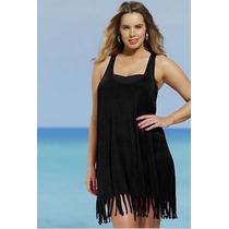 Vestido Playa Para Traje De Baño, Bikiny Negro O Fiusa