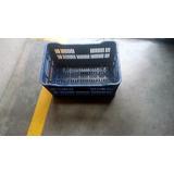 Canasta Plastica Calada Azul (22lbs De Verduras)