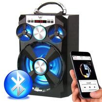 Caixa De Som Portátil Amplificada Usb Mp3 Radio Fm Cart E13