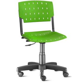 Cadeira Sigma Brasil Giratória Verde Limão Plástica