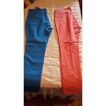 Pantalones Gabardina De Colores Elatizados T 44 Al 60 $ 750