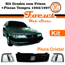 Kit Grade Com Frisos + Piscas Cristal Tempra 93 94 95 96 97