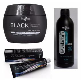 1 Tinta Preto Azulado+1 Ox 20 Vol 90ml+1 Masc Black Mairibel