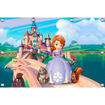 Painel Princesa Sofia 1,02 X 0,70m, Decoracao Infantil