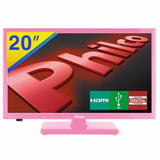 Tv Led Hd 20 Philco Conversor Digital Hdmi Usb Rosa N
