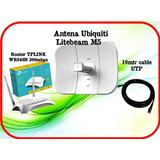 Kit San Luis 3.0 Ubiquiti Litebeam M5+ Router Tplink+ Cable