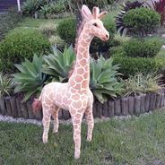 Girafa De Pelúcia Safari Gigante 120cm Realistica Real Linda