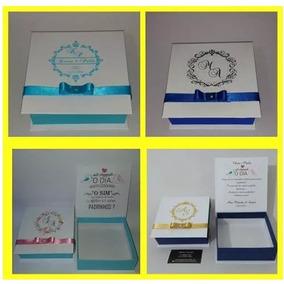 Caixa Para Convite E Lembrança Padrinhos 14x14x4,5 Pct 13uni