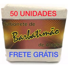 Sabonete Barbatimão Barra 90gr. 50 Unid, Frete Grátis