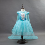 Vestido Fantasia Infantil Filme Frozen Princesa Elsa Tutu