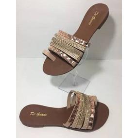 Rasteiras Pedras, Sandálias, Calçados Femininos