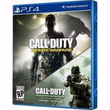 2 Jogos Ps4 Call Of Duty Infinite+ Modern Warfare Remastered