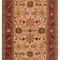 Alfombra / Tapete Handmade Afghan Ferahan Rug, Beige And Pea