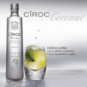 Vodka Ciroc Coconut 750 Ml Original