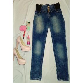 Jeans Azules Levanta Trasero Y Moldea Figura.