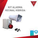 Alarma Vecinal Basica Hibrida Control Remoto Y App Celular