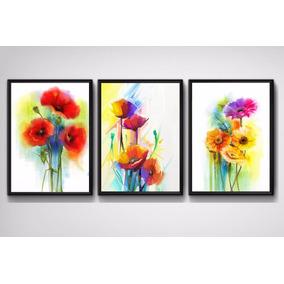 Quadro Flores Colorida Corredor Sala Quarto Luxo Recepção