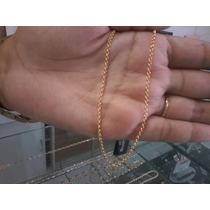 Cordão Elo Português Fino Folheado A Ouro Rommanel 42cm