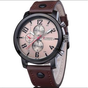 4b47adeb4e6 Relogio Curren Pulseira Couro Masculino - Relógios De Pulso no ...
