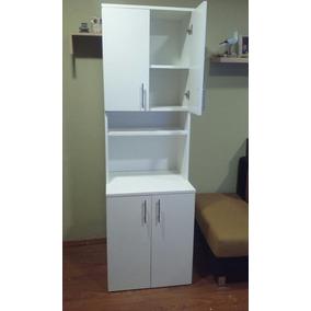 mueble auxiliar cocina porta microondas y alacena