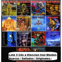 Lote 3 Cds A Eleccion - Iron Maiden - Originales/ Nuevos.-