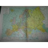 Mapa Antiguo Color Geografia Europa Continente Politico