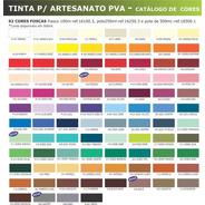 6x Tinta Pva Para Artesanato Corfix 100ml *escolha*a*cor*