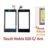 Tela Touch Screen Nokia Lumia 520 N520 Rm 915 Com Aro Colado