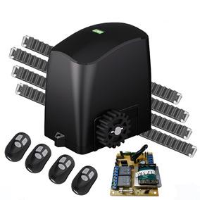 Kit Motor Deslizante 1/4 Rcg 4 Controles 4,2m Cremalheiras