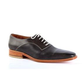 Zapatos De Cuero Verdes Oscuro Para Hombre