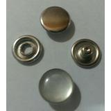 Broche Metálico De Presion Plateado Perlado 12 Milimetros