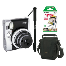 Câmera Instantânea Fujifilm Instax Mini 90 Preta+ Acessórios