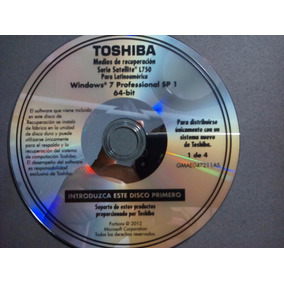 Discos Restauracion Toshiba Satellite L750 Series