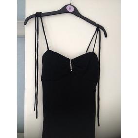 Vestido De Fiesta Negro Largo Importado