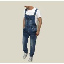 Macacão Leve Jeans Masculino Vintage