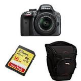 Nikon D3300 Con 18-55mm Vr Ii Lente Zoom (gris) + Accesorios