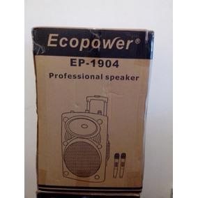 Caixa De Som Amplificada Ecopower Ep 1904 Bluetooth-