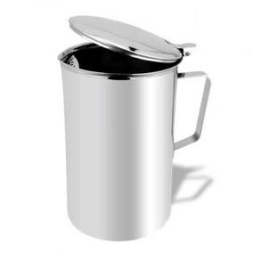 Jarra Inox Separador De Gelo Tampa 2l Suco Refrigerante Água