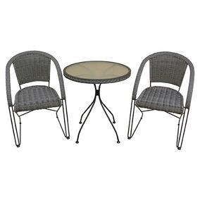 Conjunto Jardim Lisboa Mor Mesa + 2 Cadeira Varanda Sacad