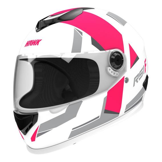 Casco Moto Hawk Rs1 F Integral Fucsia Mujer Tienda Oficial F