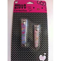 Dos Cortauñas De Hello Kitty - Hermoso Diseño -